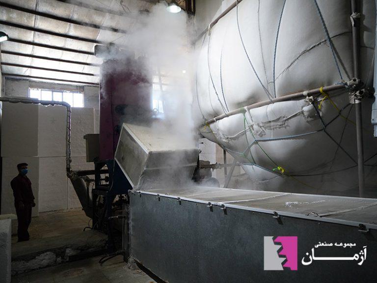 استفاده از تونل هوای گرم جهت بالابردن کیفیت مواد در روند تولید